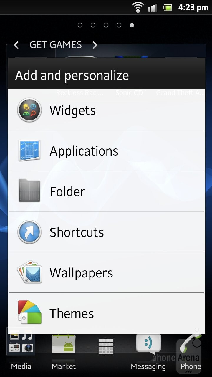 The UXP NXT interface of the Xperia S - Sony Xperia S Review