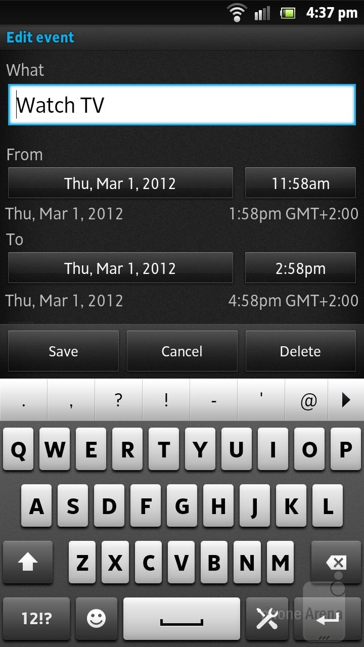 The default apps haven't changed much - Sony Xperia S Review