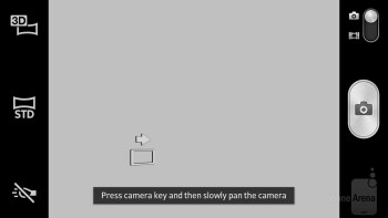 The camera interface of the Xperia S is rich on features - Sony Xperia S Review