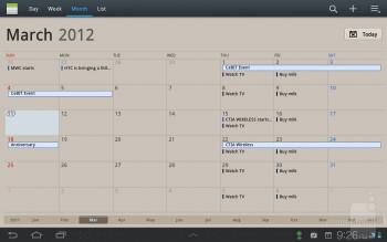 Calendar - Samsung Galaxy Tab 7.7 LTE Review
