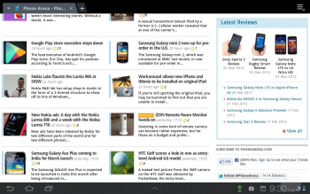Browsing the web on the Samsung Galaxy Tab 7.7 LTE was blazing fast thanks to the 4G LTE connectivity - Samsung Galaxy Tab 7.7 LTE Review