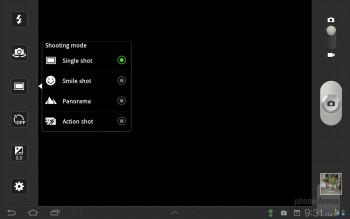 Camera interface - Samsung Galaxy Tab 7.7 LTE Review