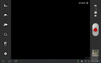 Camcorder interface - Samsung Galaxy Tab 7.7 LTE Review