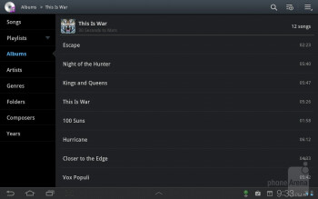 The TouchWiz UX music player - Samsung Galaxy Tab 7.7 LTE Review