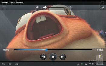 Watching 1080p DivX files is nearly flawless - Samsung Galaxy Tab 7.7 LTE Review