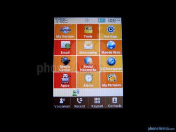 "Viewing angles of the 3.1"" QVGA display - Samsung Brightside Review"