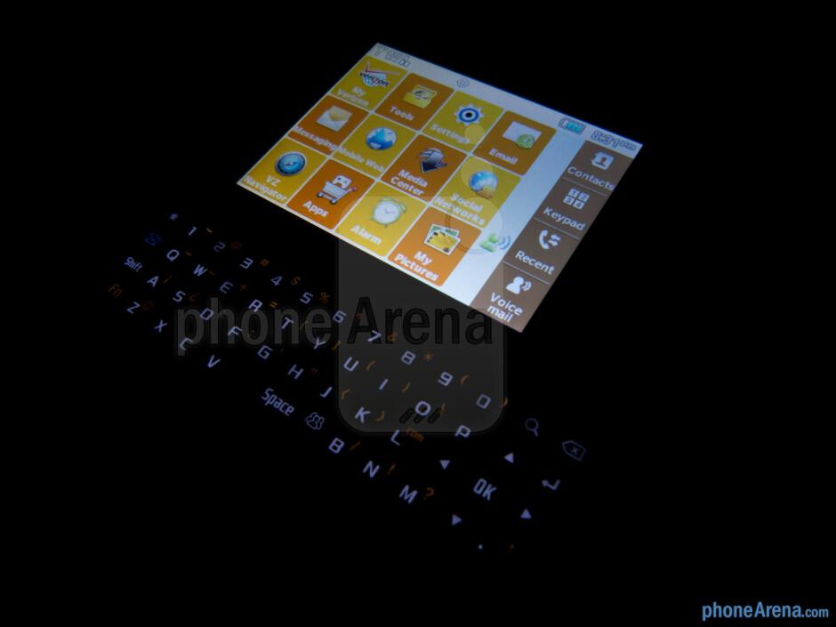 The landscape sliding keyboard - Samsung Brightside Review
