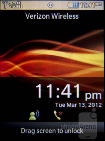 Home screen - Interface of the Samsung Brightside - Samsung Brightside Review