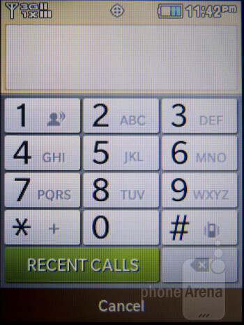 Dialer - Interface of the Samsung Brightside - Samsung Brightside Review