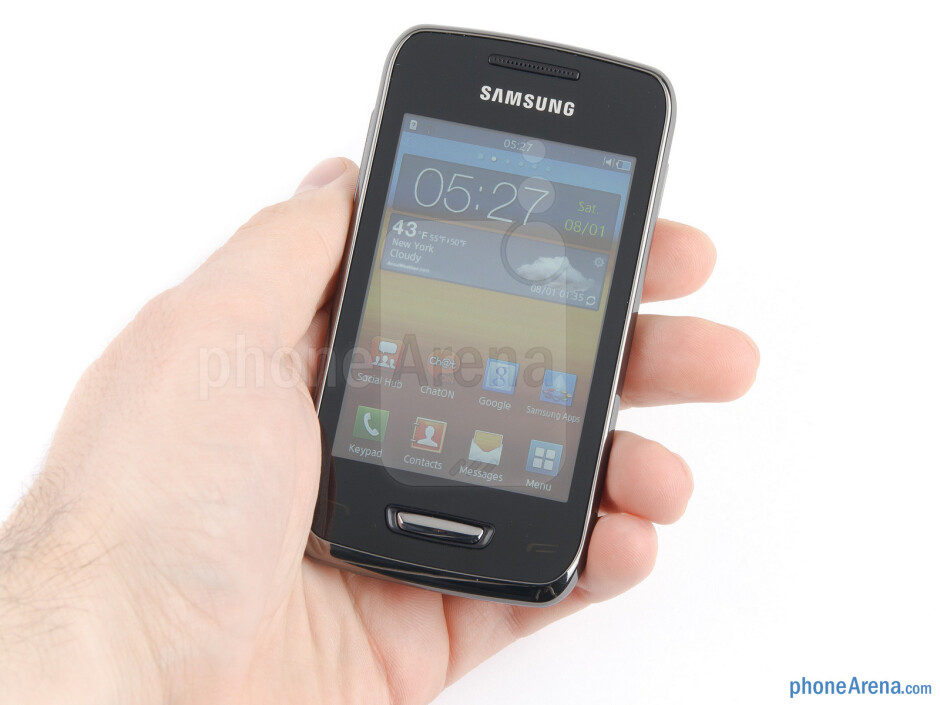 The Samsung Wave Y is comfortable to hold - Samsung Wave Y Review
