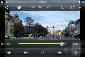 Video player - Samsung Wave Y Review