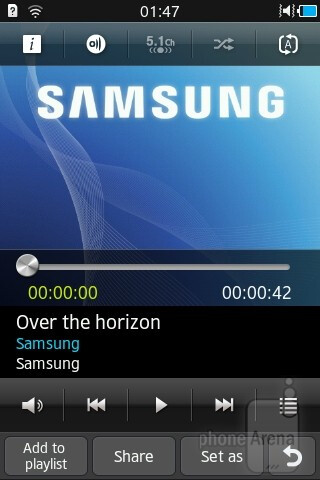 The music player - Samsung Wave Y Review