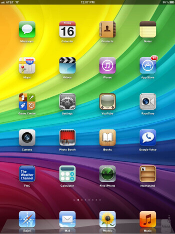 The iOS interface - Google Nexus 7 vs Apple iPad 3