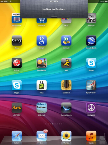 The interface of the Apple iPad 3 - Samsung Galaxy Note 10.1 vs Apple iPad 3
