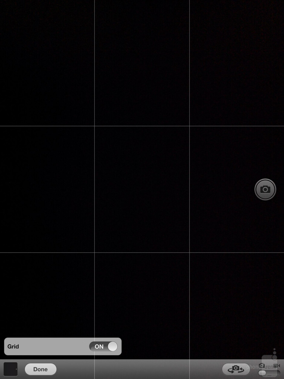 Camera interface of the Apple iPad 3 - Samsung Galaxy Note 10.1 vs Apple iPad 3