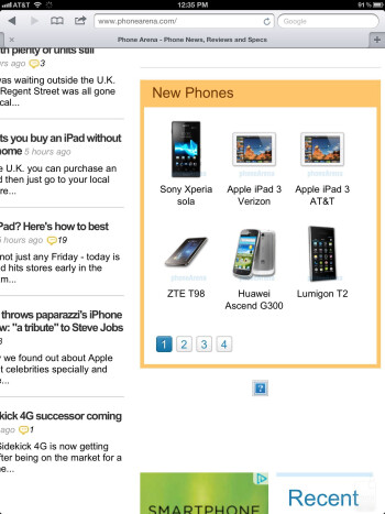 Web browsing on the new iPad - Google Nexus 7 vs Apple iPad 3