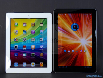 The Apple iPad 3 (left) and the Samsung Galaxy Tab 10.1 (right) - Apple iPad 3 vs Samsung Galaxy Tab 10.1