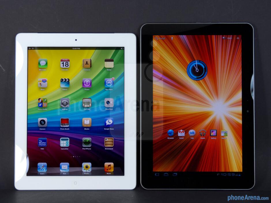 The Apple iPad 3 (left) and the Samsung Galaxy Tab 10.1 (right) - Apple iPad 3 vs Samsung Galaxy Tab 10.1