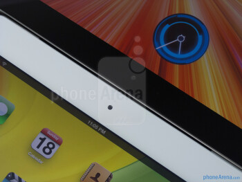 Front-facing cameras - The Apple iPad 3 (left) and the Samsung Galaxy Tab 10.1 (right) - Apple iPad 3 vs Samsung Galaxy Tab 10.1
