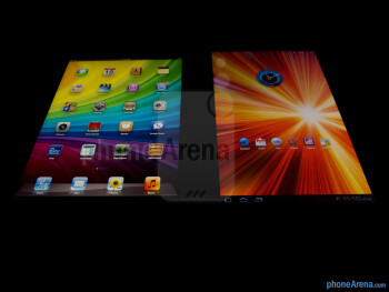 Viewing angles of the Apple iPad 3 (left) and the Samsung Galaxy Tab 10.1 (right) - Apple iPad 3 vs Samsung Galaxy Tab 10.1