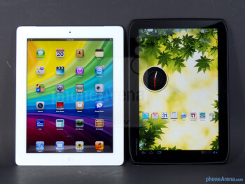 The Apple iPad 3 (left) and the Motorola DROID XYBOARD 10.1 (right) - Apple iPad 3 vs Motorola DROID XYBOARD 10.1
