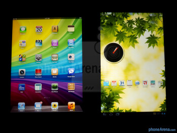 Viewing angles of the Apple iPad 3 (left) and the Motorola DROID XYBOARD 10.1 (right) - Apple iPad 3 vs Motorola DROID XYBOARD 10.1