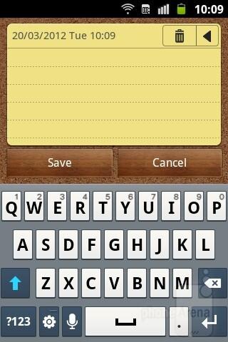 On-screen virtual keyboard - Samsung Galaxy mini 2 Preview