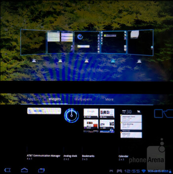Interface of the Sony Tablet P - Sony Tablet P Review