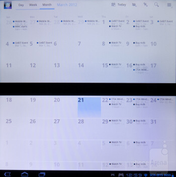 Organizer apps - Sony Tablet P Review