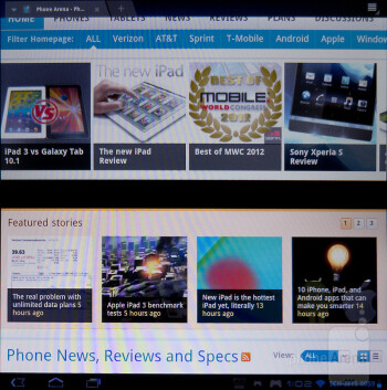 Internet browser - Sony Tablet P Review