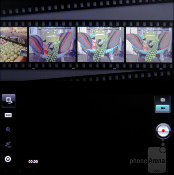 Camera interface - Sony Tablet P Review