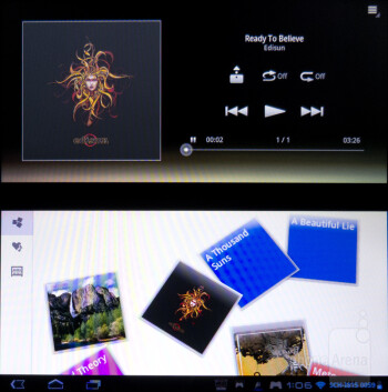 Music player - Sony Tablet P Review