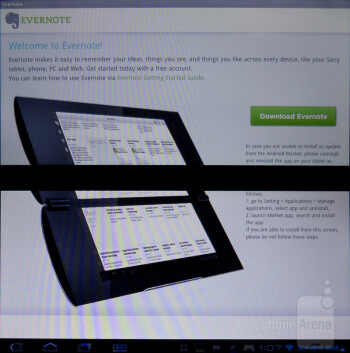 Evernote - Sony Tablet P Review