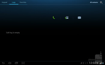 The Contacts app - Samsung Galaxy Tab 2 (10.1) Preview