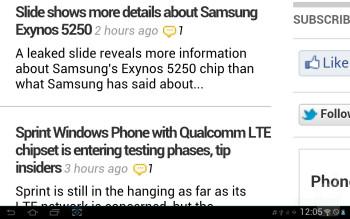 Web browser - Samsung Galaxy Tab 2 (10.1) Preview