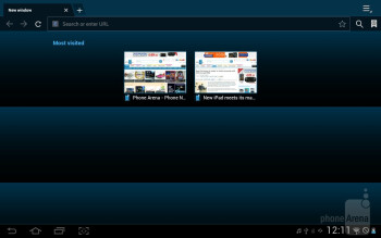 Web browser - Samsung Galaxy Tab 2 (10.1) Preview