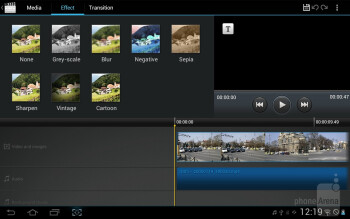Movie Maker - Samsung Galaxy Tab 2 (10.1) Preview