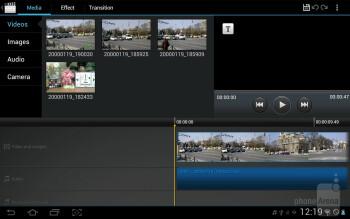 Movie Maker - Samsung Galaxy Tab 2 (10.1) Preview