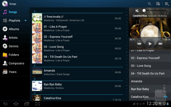 The music player - Samsung Galaxy Tab 2 (10.1) Preview