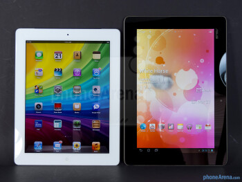 The Apple iPad 3 (left) and the Asus Transformer Prime (right) - Apple iPad 3 vs Asus Transformer Prime