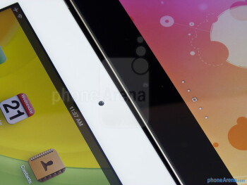 Front-facing cameras - The Apple iPad 3 (left) and the Asus Transformer Prime (right) - Apple iPad 3 vs Asus Transformer Prime