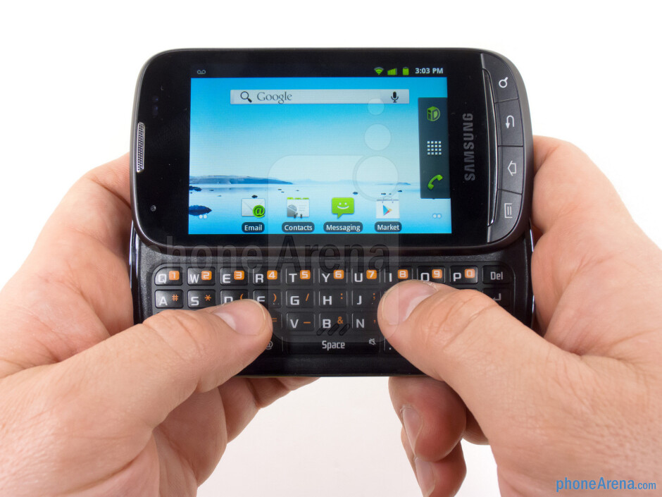 The Samsung Transform Ultra features a side-sliding QWERTY keyboard - Samsung Transform Ultra Review