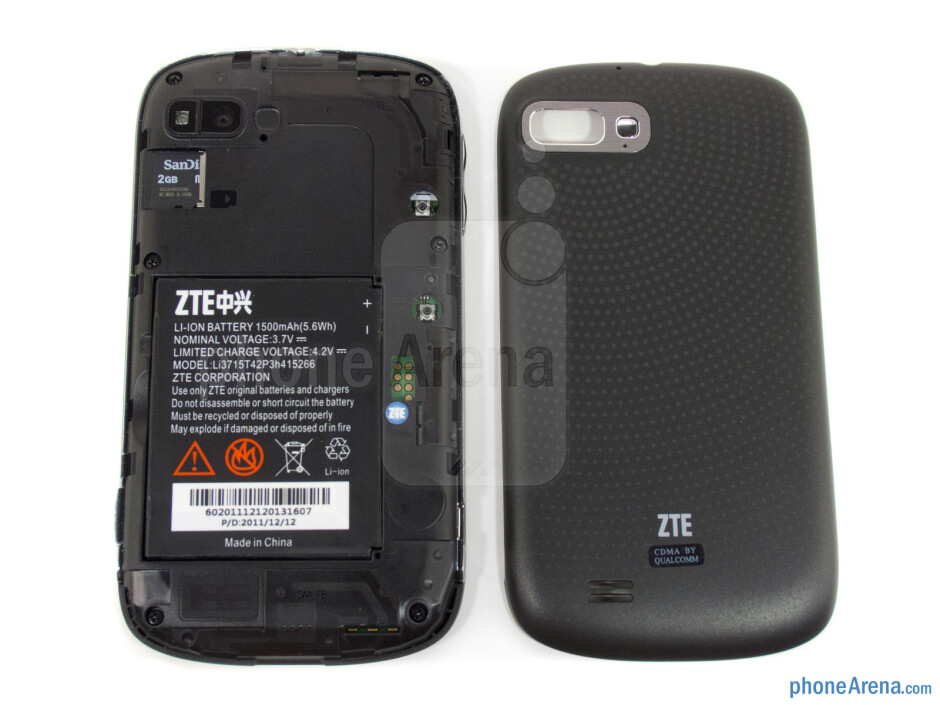 Battery compartment - ZTE Fury Review