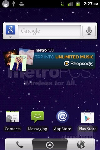 The ZTE Score M is running MetroPCS' customized interface on top of Android 2.3.4 Gingerbread - ZTE Score M Review