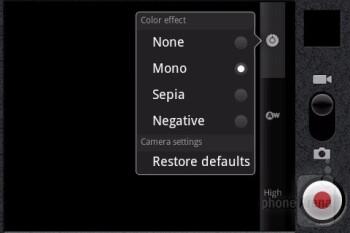 Camera interface - ZTE Score M Review