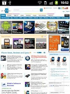Web browsing - Samsung Galaxy Pocket Preview