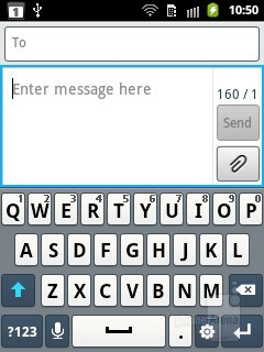 The on-screen QWERTY keyboard - Samsung Galaxy Pocket Preview