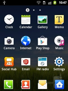 App drawer - The Samsung Galaxy Pocket has Gingerbread, skinned with TouchWiz - Samsung Galaxy Pocket Preview