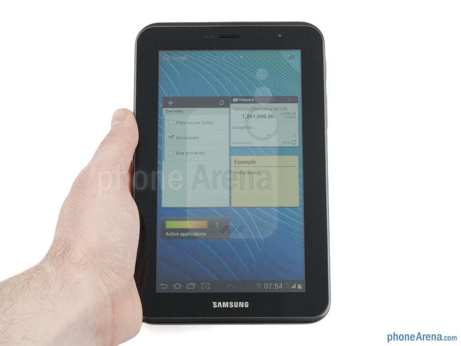 The Samsung Galaxy Tab 2 (7.0) feels well put together - Samsung Galaxy Tab 2 (7.0) Preview