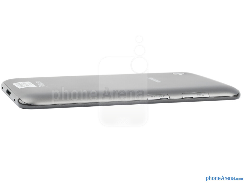 microSD and SIM card slots (left) - The sides of the Samsung Galaxy Tab 2 (7.0) - Samsung Galaxy Tab 2 (7.0) Preview